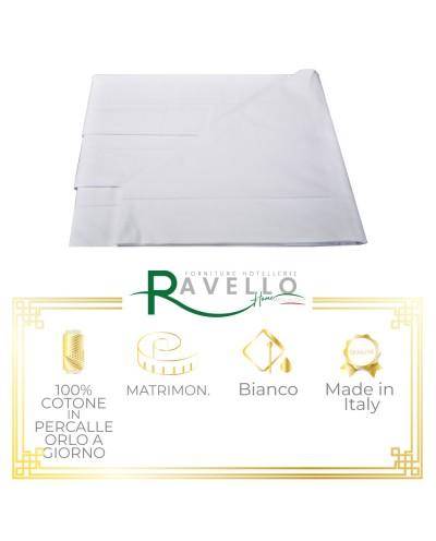 Completo Puro Cotone in Percalle con Orlo a Giorno Ravello Home