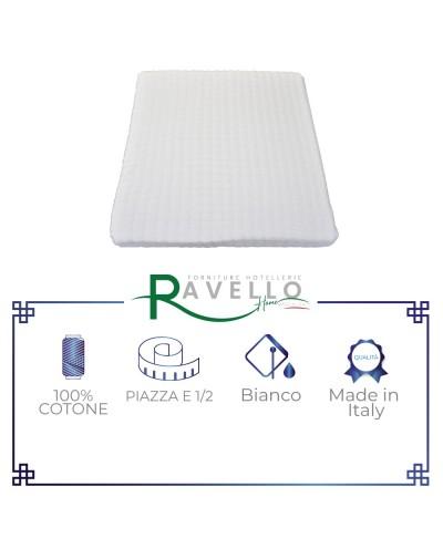 Coprimaterasso in spugna velour con angoli Ravello Home