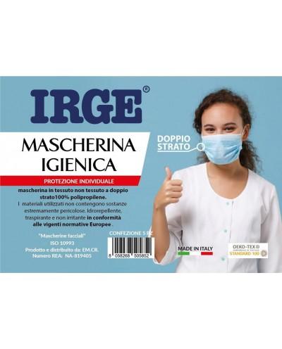 Irge - Mascherina Igienica Protezione Individuale 5 pezzi