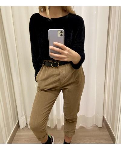 Pantalone velluto slouchy