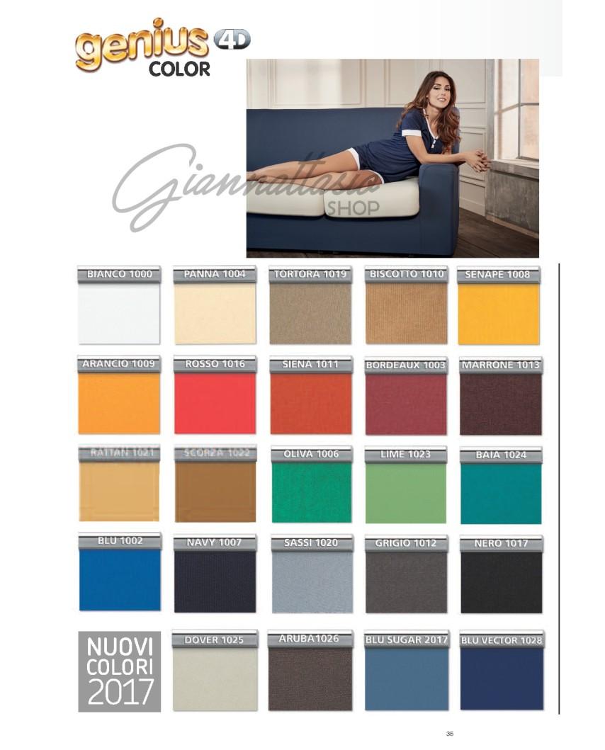 """Genius 4D - Copri Cuscini coppia, coppia maxi, 2 posti, 3 posti, angolari - Colori tinta unita """"Color"""""""