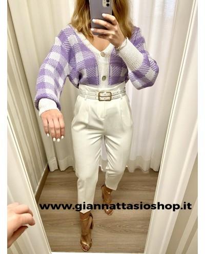 Pantalone vita  alta con fibia