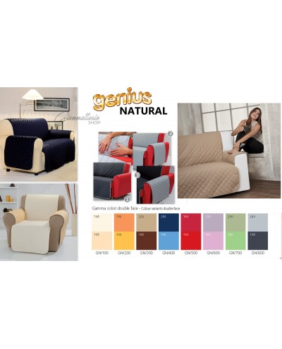 Genius 4D - Natural 3/2 seater sofa cover and Double Face armchair