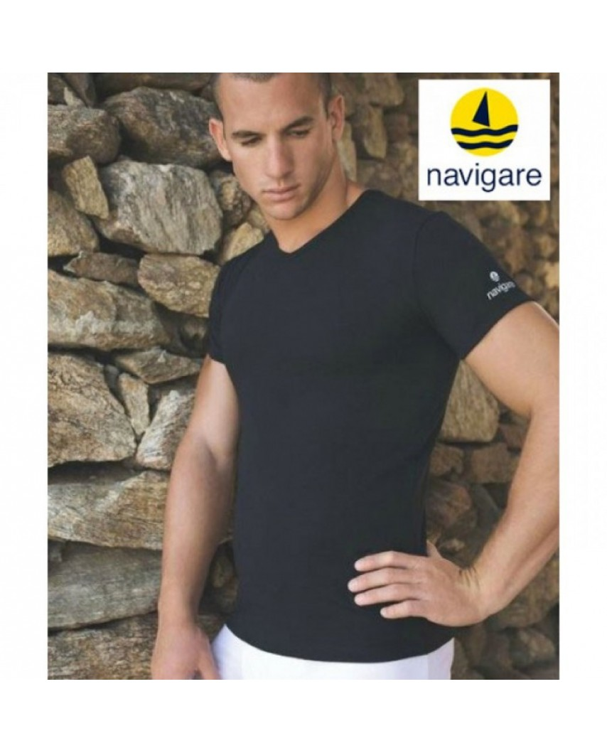 Navigare Half sleeve V-neck T-shirt