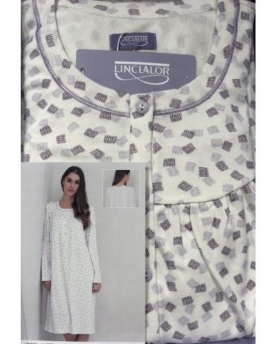 Camicia da notte cotone caldo interlook Linclalor