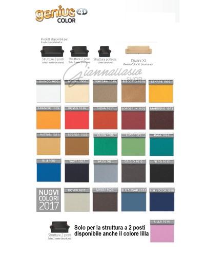 """Genius 4D - Copridivano 3 Posti, 2 Posti, Poltrona, Divano XL - Colori tinta unita """"Color"""""""