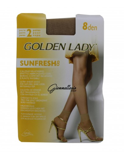 Veined golden lady sock